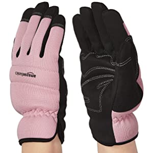 AmazonBasics Women's Work or Garden Gloves - Medium, Pink