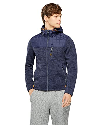 27340693c58a Superdry - Navy Mountain Quilted Zip Hoody: Amazon.co.uk: Clothing