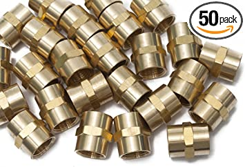 Pack of 5 LTWFITTING Brass Fitting Coupler 3//8-Inch Hose Barb x 1//8-Inch Female NPT Fuel Water Boat