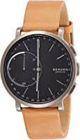Skagen Men's 42mm Hagen Connected Titanium and Brown Leather Hybrid Smart Watch