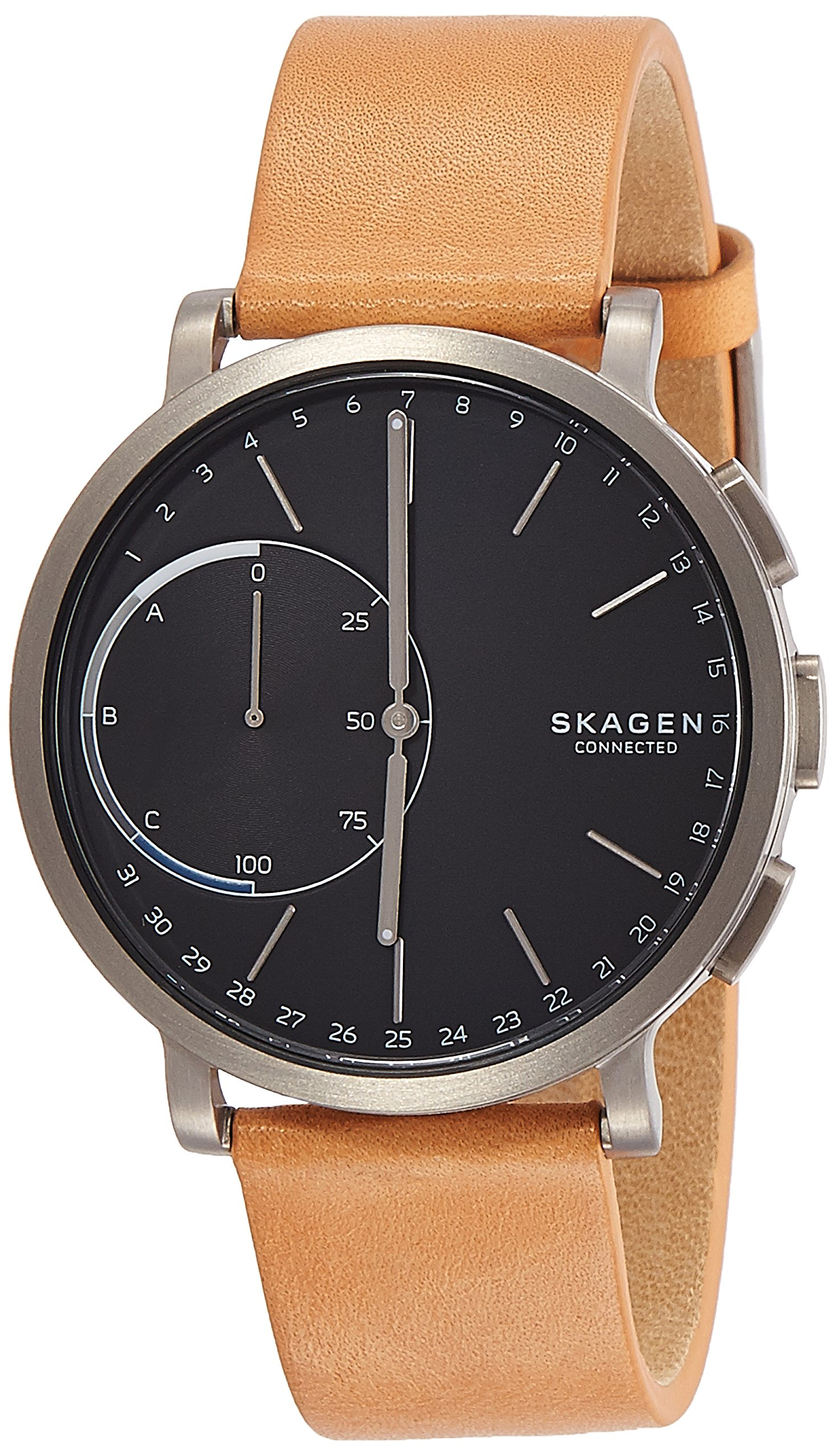 Skagen Hybrid Smartwatch - Hagen Titanium and Tan Leather SKT1104