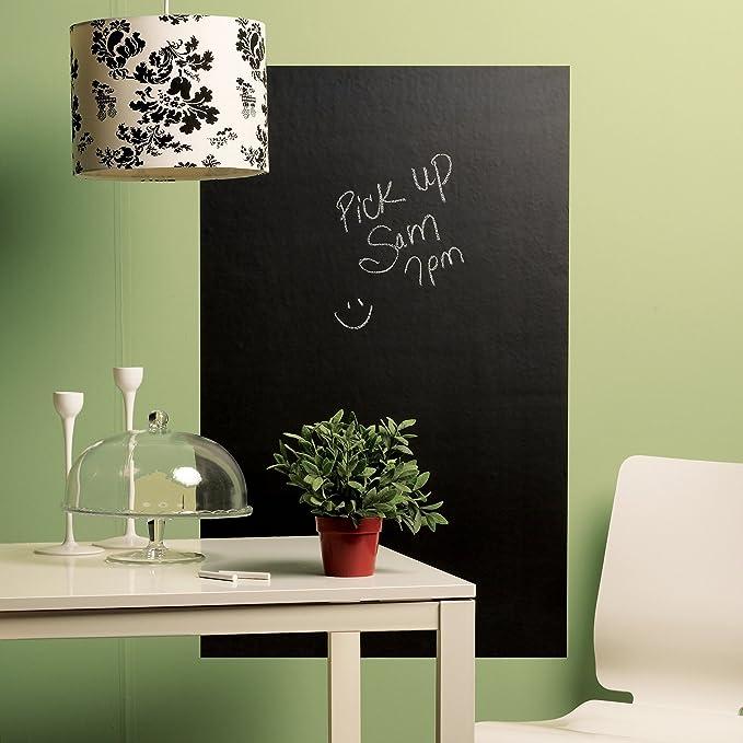 Amazon com wallies wall decals big reusable chalkboard wall sticker 25 inch x 38 inch home kitchen