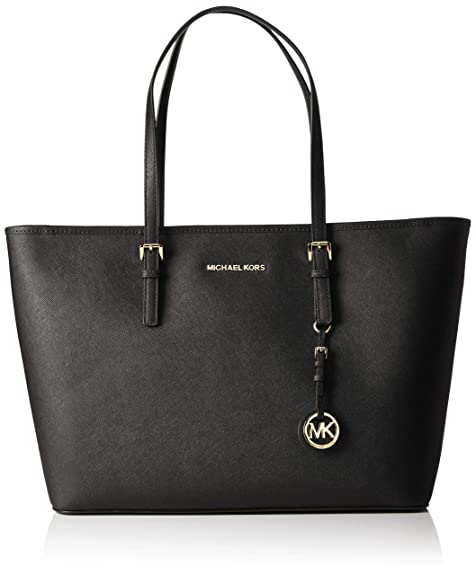 589966f2c7 Michael Kors Jet Set Travel, Borsa Tote Donna, Nero (Black), 12.7x29 ...