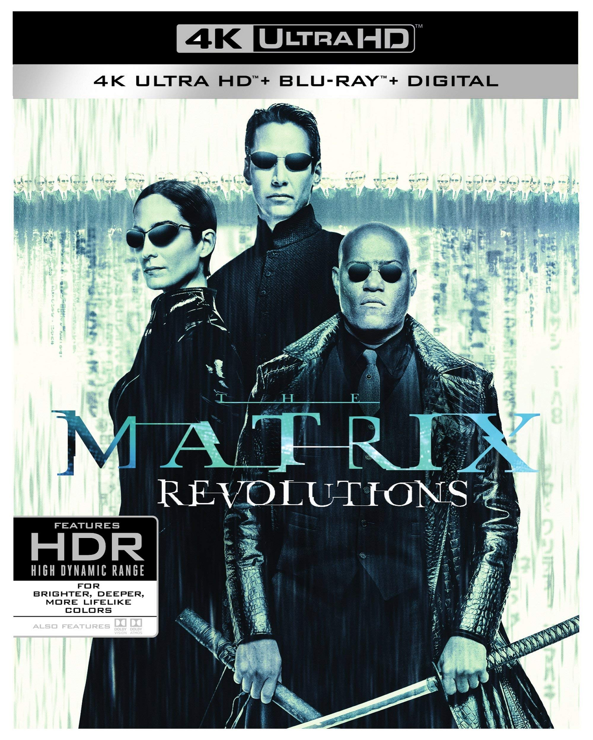4K Blu-ray : The Matrix Revolutions (Black, With Blu-ray, 4K Mastering, Ultraviolet Digital Copy, 3 Pack)