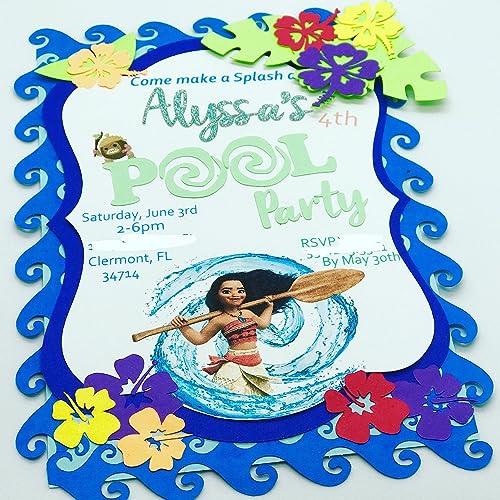 amazon com moana invitation handmade