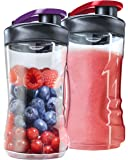 AEG ASBEB2 Mini Mixer Extra-Flaschen (geeignet für PerfectMix Mini Mixer SB 2400/SB 2500/SB4PS), 2er Pack (2x300 ml)