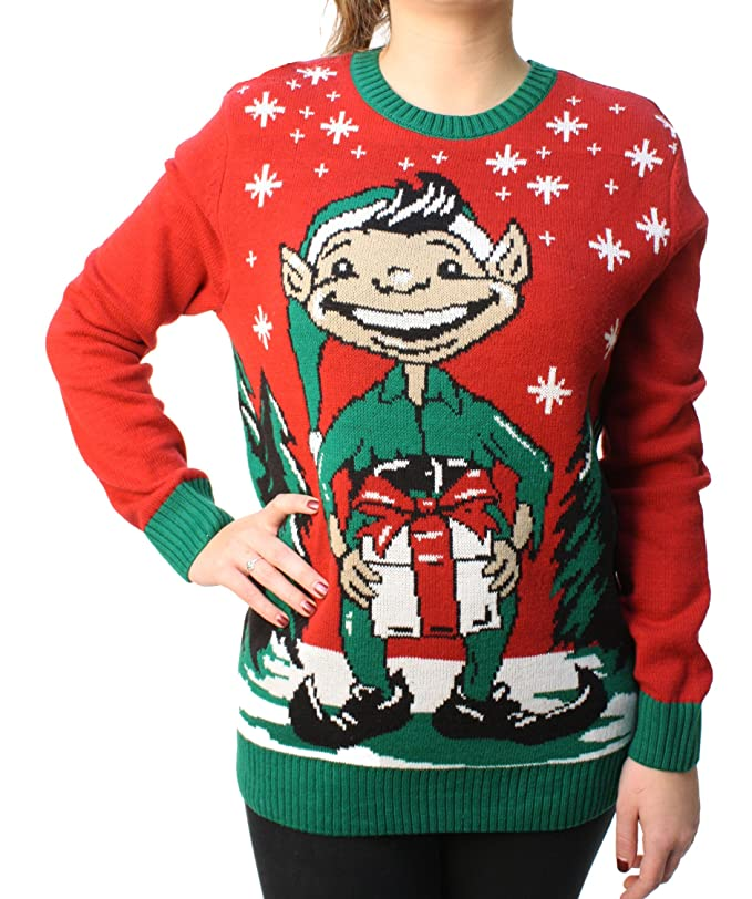 brand new df2f9 8fee6 Ugly Christmas Sweater Men's Elf Dick In A Box Pullover ...