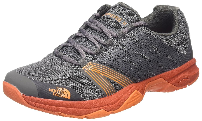 The North Face Litewave Ampere II, Zapatillas de Running para Hombre 44 EU|Varios Colores (Dark Gull Grey/Exuberance Orange)