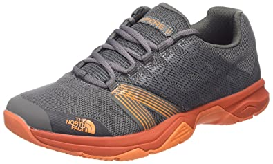 The North Face Mens Litewave Ampere II Dark Grey/Orange Size 11.5