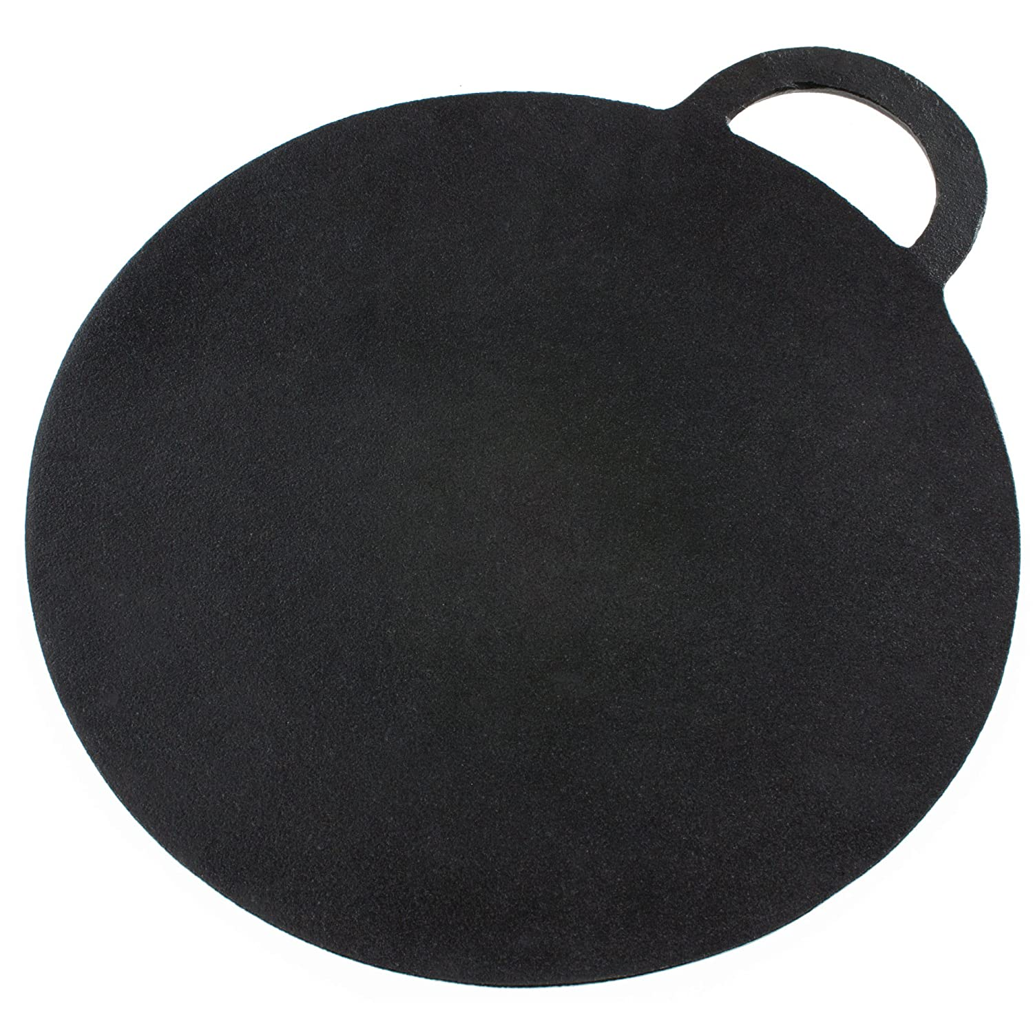 Andrew James Baking Stone Cast Iron | Suitable for Pizza Bread Scones and Pancakes etc. | 30cm Diameter | Pre-Seasoned Non-Stick Surface