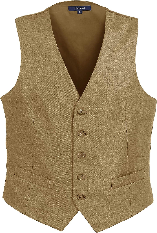 Gioberti Mens Formal Suit Vest