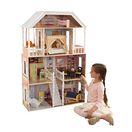 Amazon Com Kidkraft Savannah Dollhouse With Furniture Toys Games