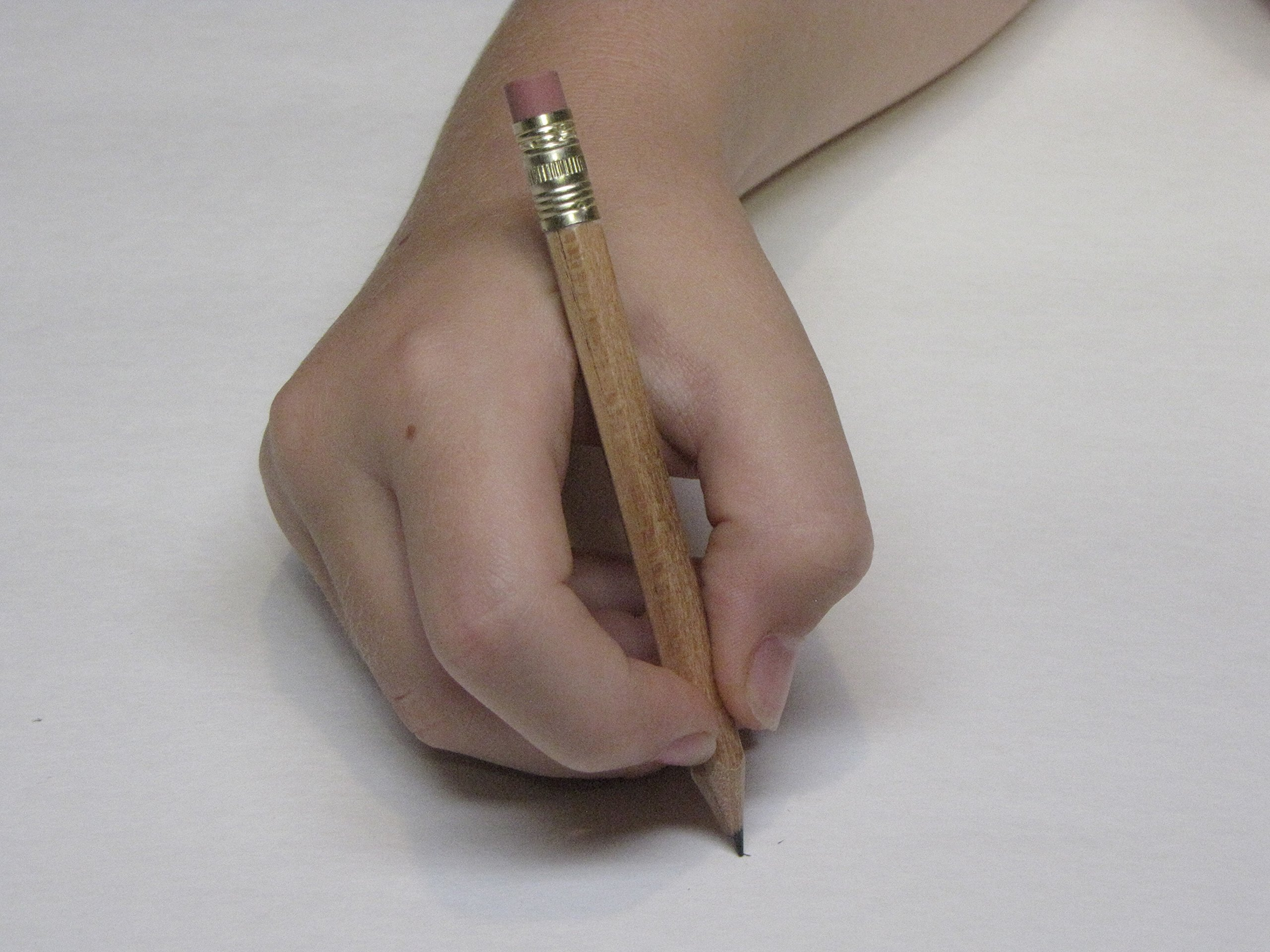 Half Pencil with Eraser, Golf, Events, School, Hexagon, #2, Sharpened, Box of 144. Color: Natural Wood Grain