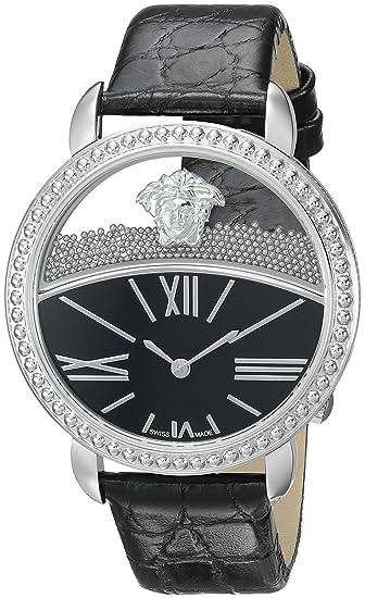 Versace VAS020016 - Reloj analógico de Cuarzo con Correa de Piel de Becerro para Mujer