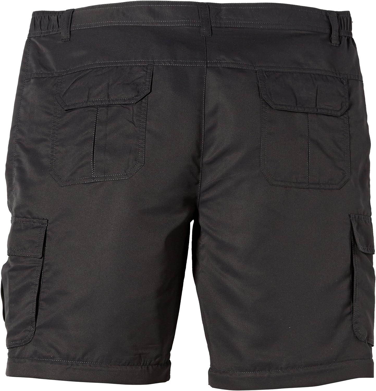 James & Nicholson Herren Sporthose Hose Men's Zip-Off Pants Grau