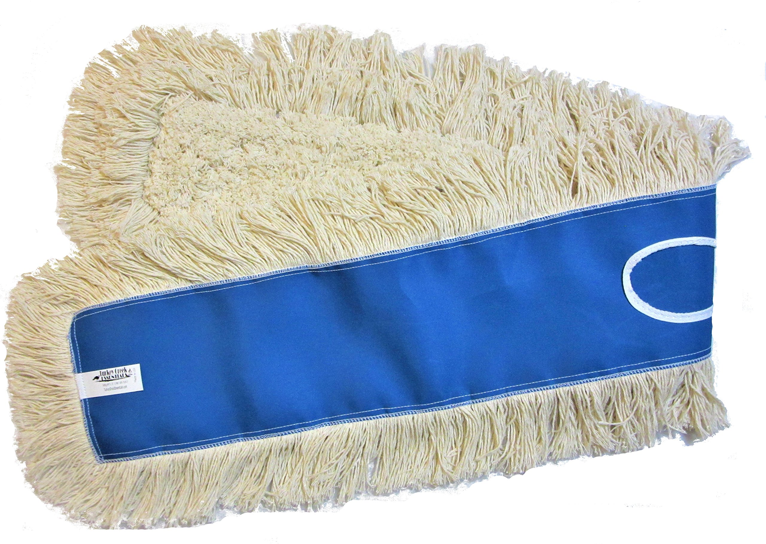 48'' Industrial Strength Washable Cotton Dust Mop Refill Thick Tufted Replacement Head for Home & Commercial Use for 48 Inch Frame Cleans Hardwood Laminate Concrete or Other Floor Systems by Turkey Creek Essentials