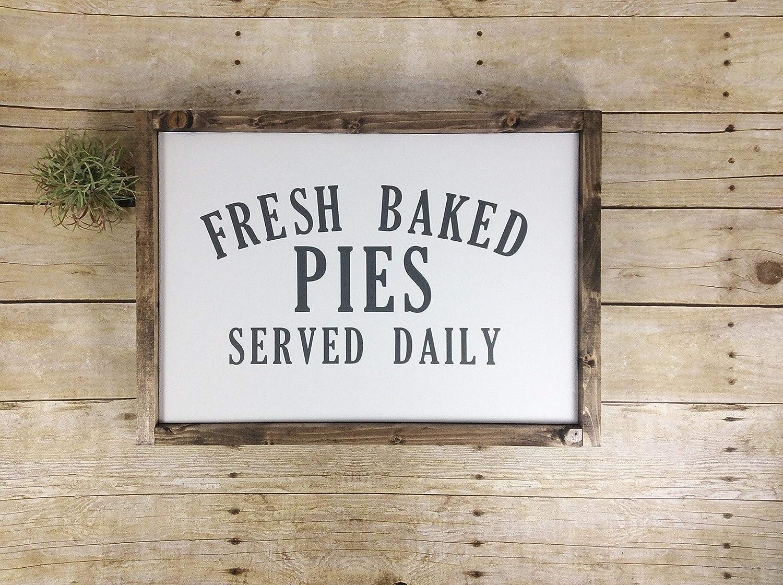 Rac76yd Fresh Baked Pies Kitchen Sign Wall Decoration Fresh Baked Pies Bakery Decor Pies Sign Kitchen Decor Gift For Mum Amazon De Kuche Haushalt
