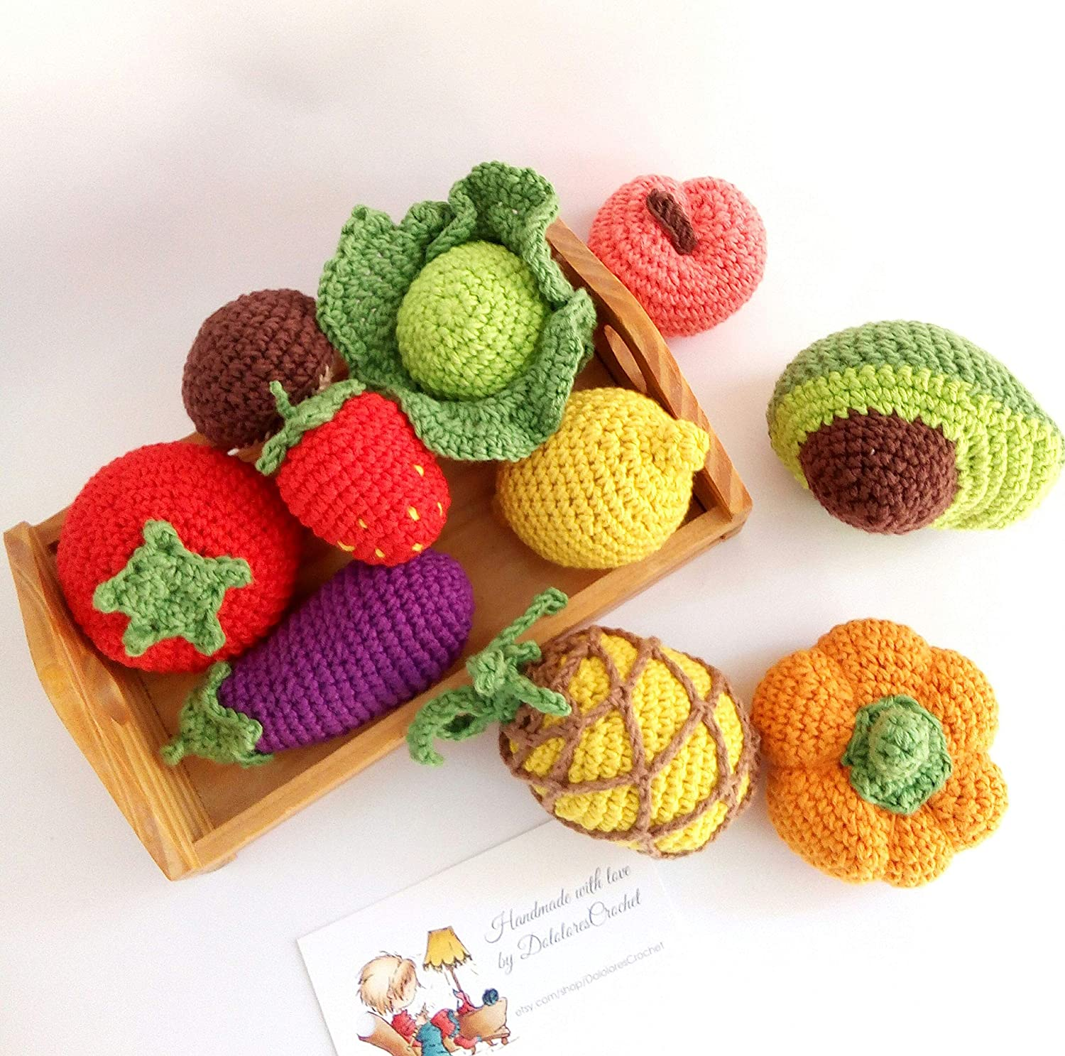 Play with Your Food: 40 Free Amigurumi Patterns to Crochet Today! | 1487x1500