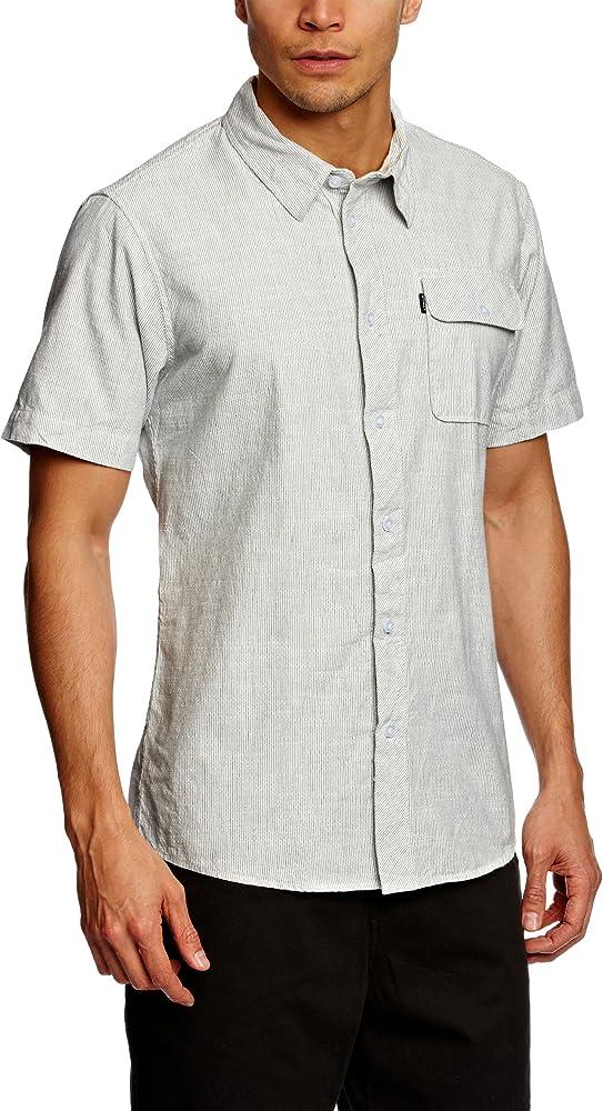 ONeill - Camisa de Manga Corta para Hombre, Talla 37/38, Color marrón (Rost): Amazon.es: Ropa y accesorios
