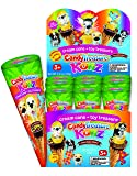 Candy Treasure Carrot KONZ | 12 Crispy Waffle Cones with Chocolate Cream & Surprise Toy Puppy Dog | Fudgy, Chocolatey Cream with Candy Sprinkles | 24 Collectible Toys | Fun For Boys & Girls