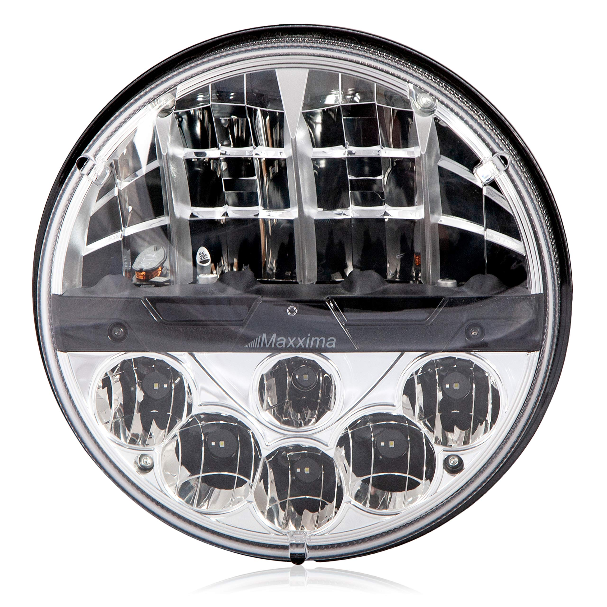 Maxxima MHLE-07HILO 7'' Round Dual Beam LED Headlamp