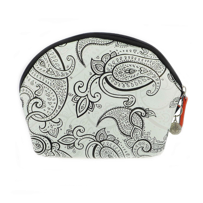 TheStyleAssistant GIN TONIC Kosmetiktasche Geldbörse Schminktasche Paisley-Muster Etui klein mini für die Handtasche, Pouch, SUNSET EDITION, P-F16-07