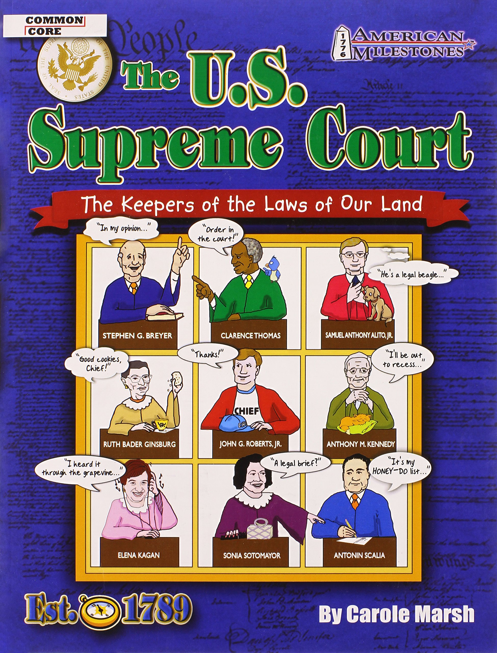 The U.S. Supreme Court:  The Keepers of the Laws of Our Land (American Milestones) PDF