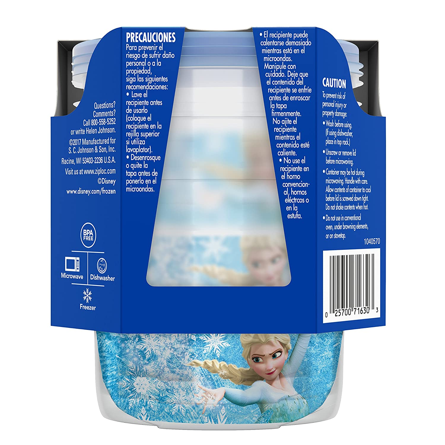 Amazon.com: Ziploc Brand Twist n Loc Containers Featuring Disney Frozen Design, Small, 16 oz, 3 ct: Health & Personal Care