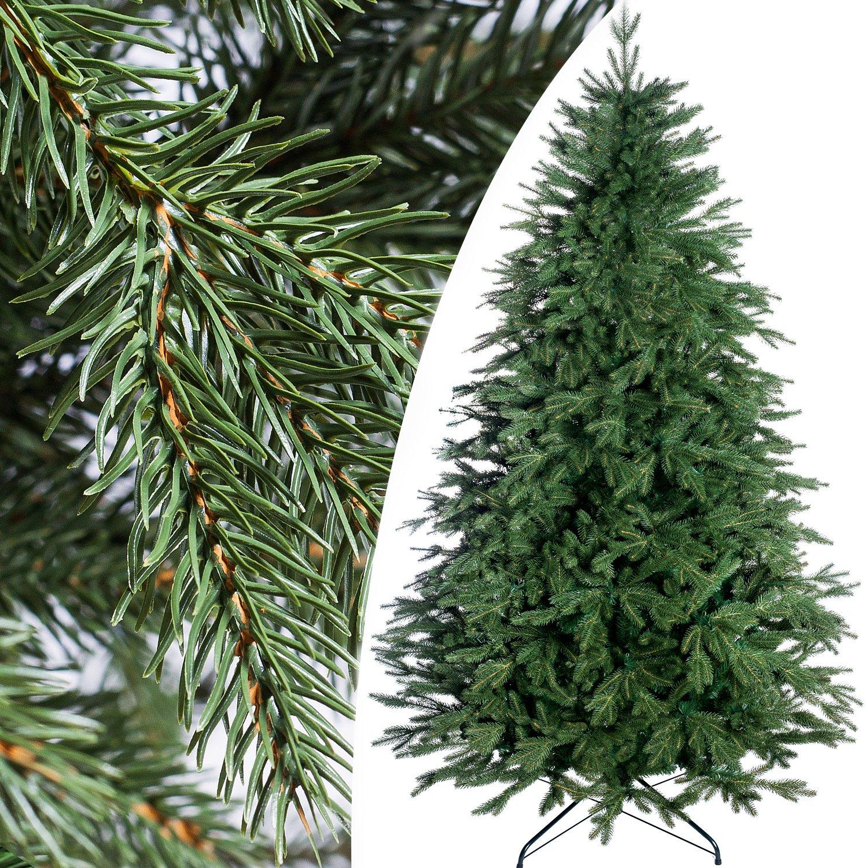 PREMIUM SERIE 120 cm künstlicher Tannenbaum Weihnachtsbaum Zapfen Fichte Metallfuß Metallfuß Metallfuß super Qualität Himalaya e29654