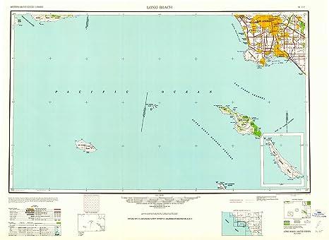 Amazon.com : YellowMaps Long Beach CA topo map, 1:250000 Scale, 1 X ...