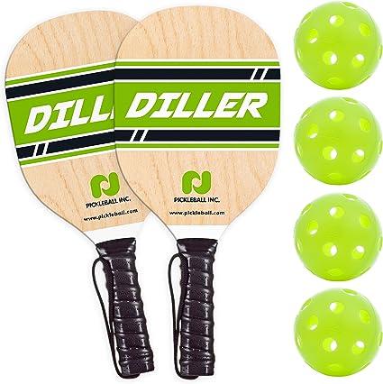 4 Pickleballs /& 1 Bag Pickleball Set with 2 Wood Pickleball Paddles niupipo Pickleball Paddles Set Beginner-Intermediate Pickleball Rackets Pickleball Paddle Set of 2 with Ergonomic Cushion Grip