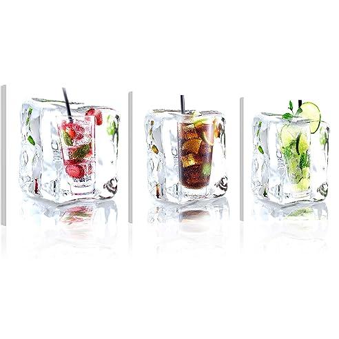 Murando - Acrylglasbild Drink 120X40 Cm - Glasbilder - Wandbilder