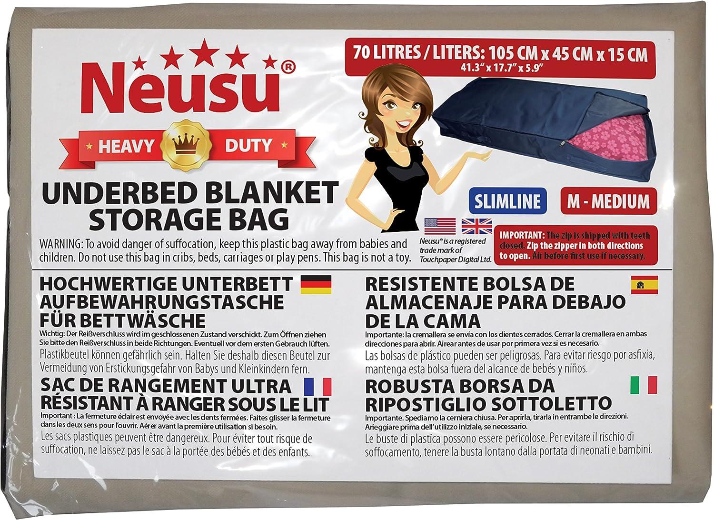 4336088849 Neusu Slimline Underbed Storage Bag Large 110 Liters, Beige
