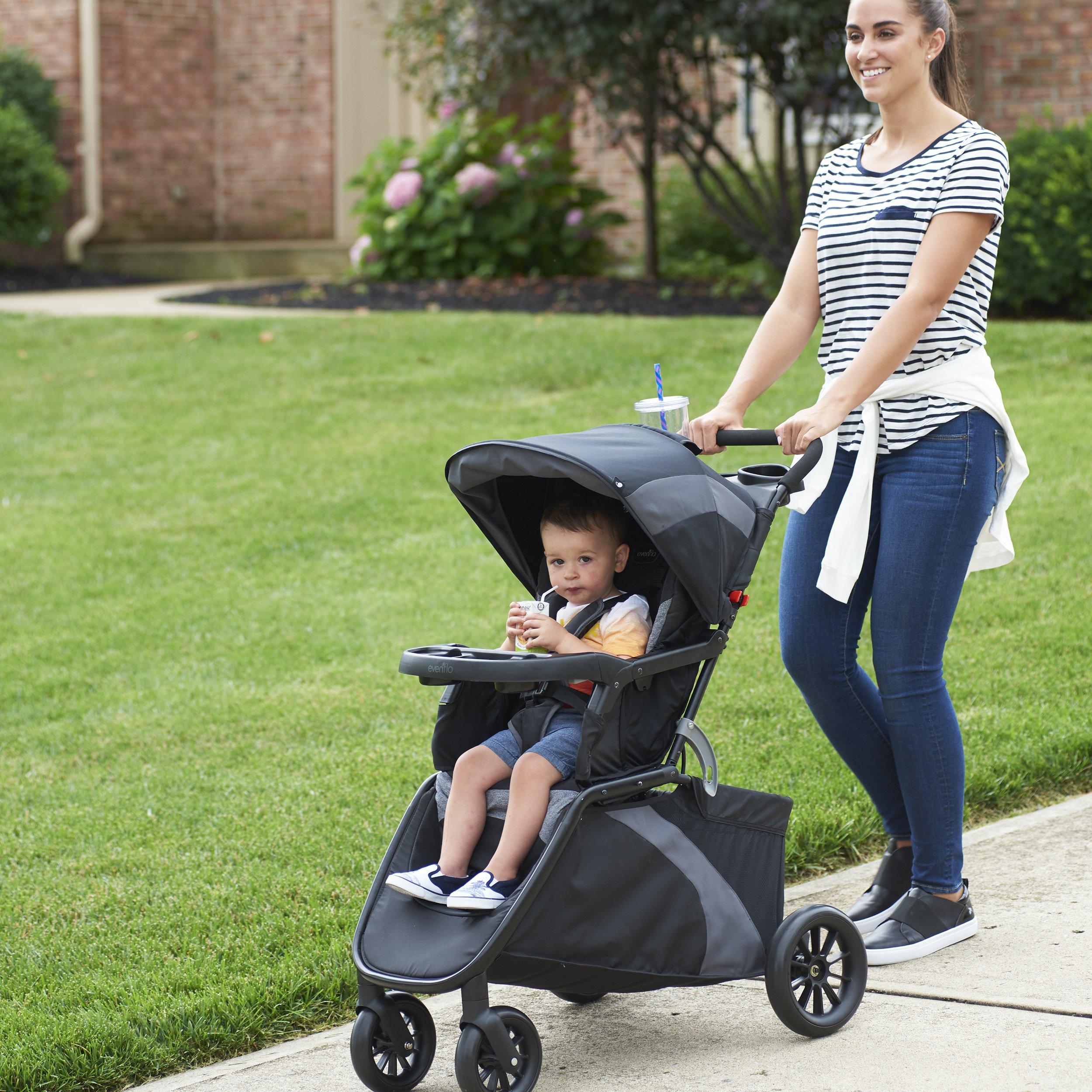 Evenflo Advanced SensorSafe Epic Travel System with LiteMax Infant Car Seat, Jet by Evenflo (Image #13)