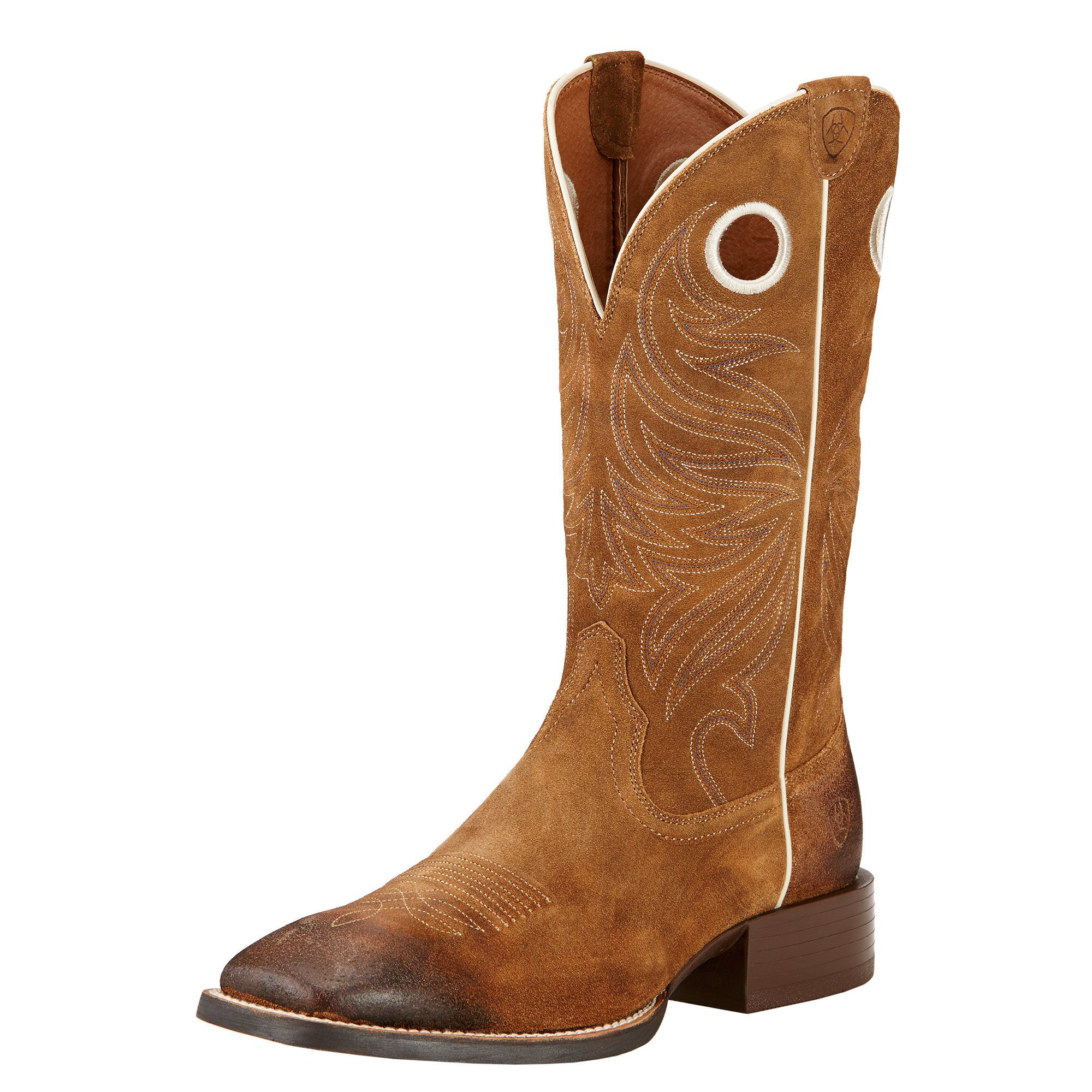 Ariat Mens Sport Rider Wide Square Toe Performance 11.5D Anitque Mocha Suede by Ariat