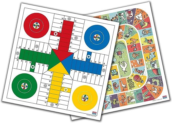 Falomir Tablero Parchís y Oca 33 cm Mesa. Juego Clásico. (27906): Amazon.es: Juguetes y juegos