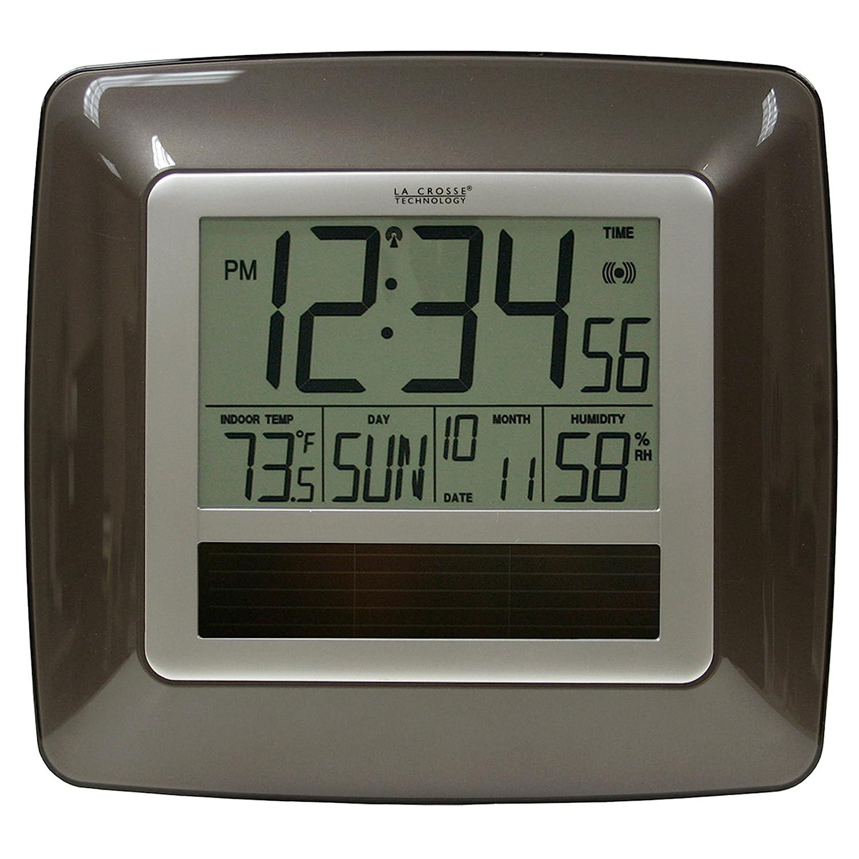 La Crosse Technology WT-8112U Solar At-mica reloj de pared ...