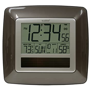 La Crosse Technology WT-8112U Solar At-mica reloj de pared ...