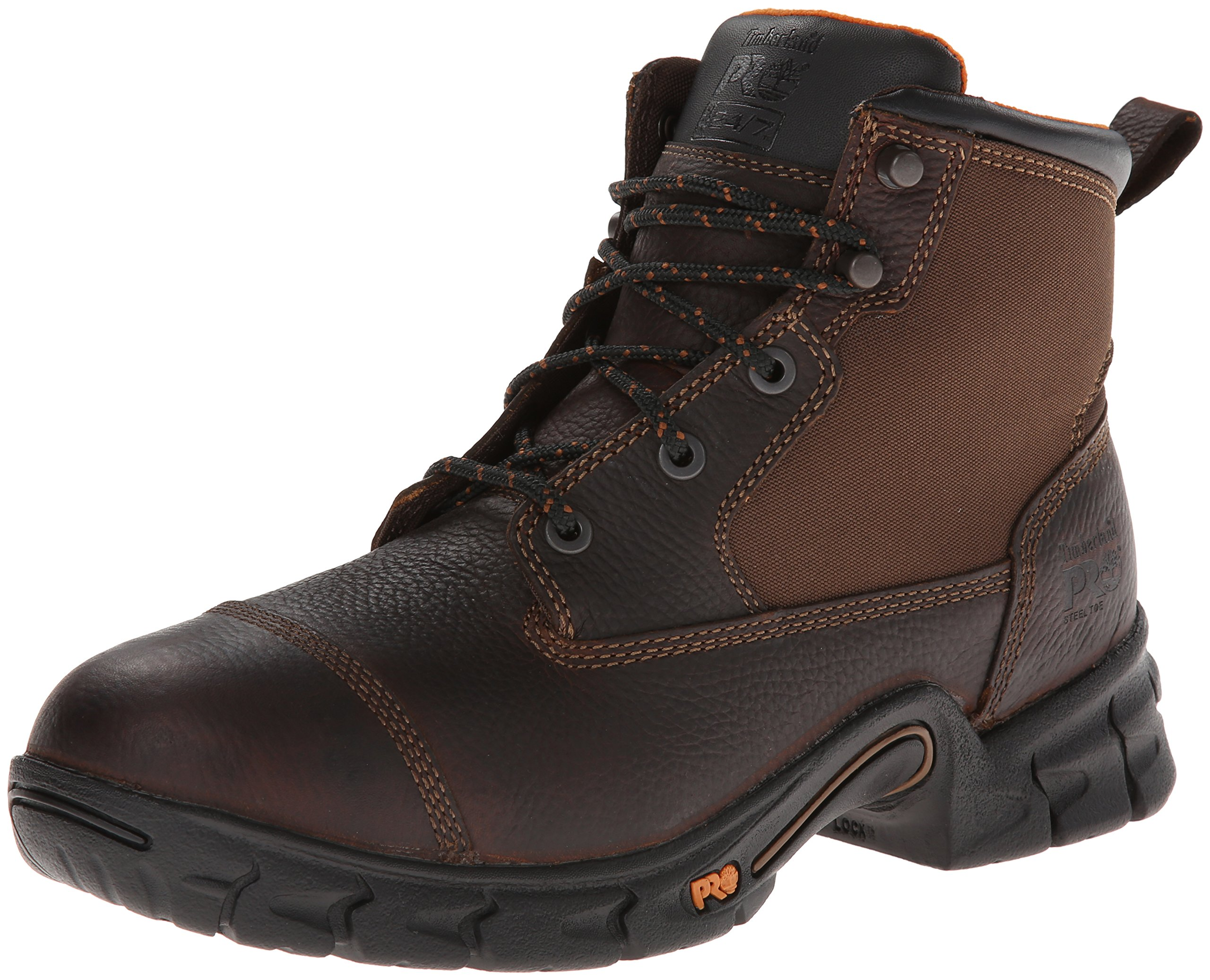 Timberland PRO Men's 6 Inch Excave Steel Safety Toe Work Boot,Brown Full/Grain Leather,10.5 M US