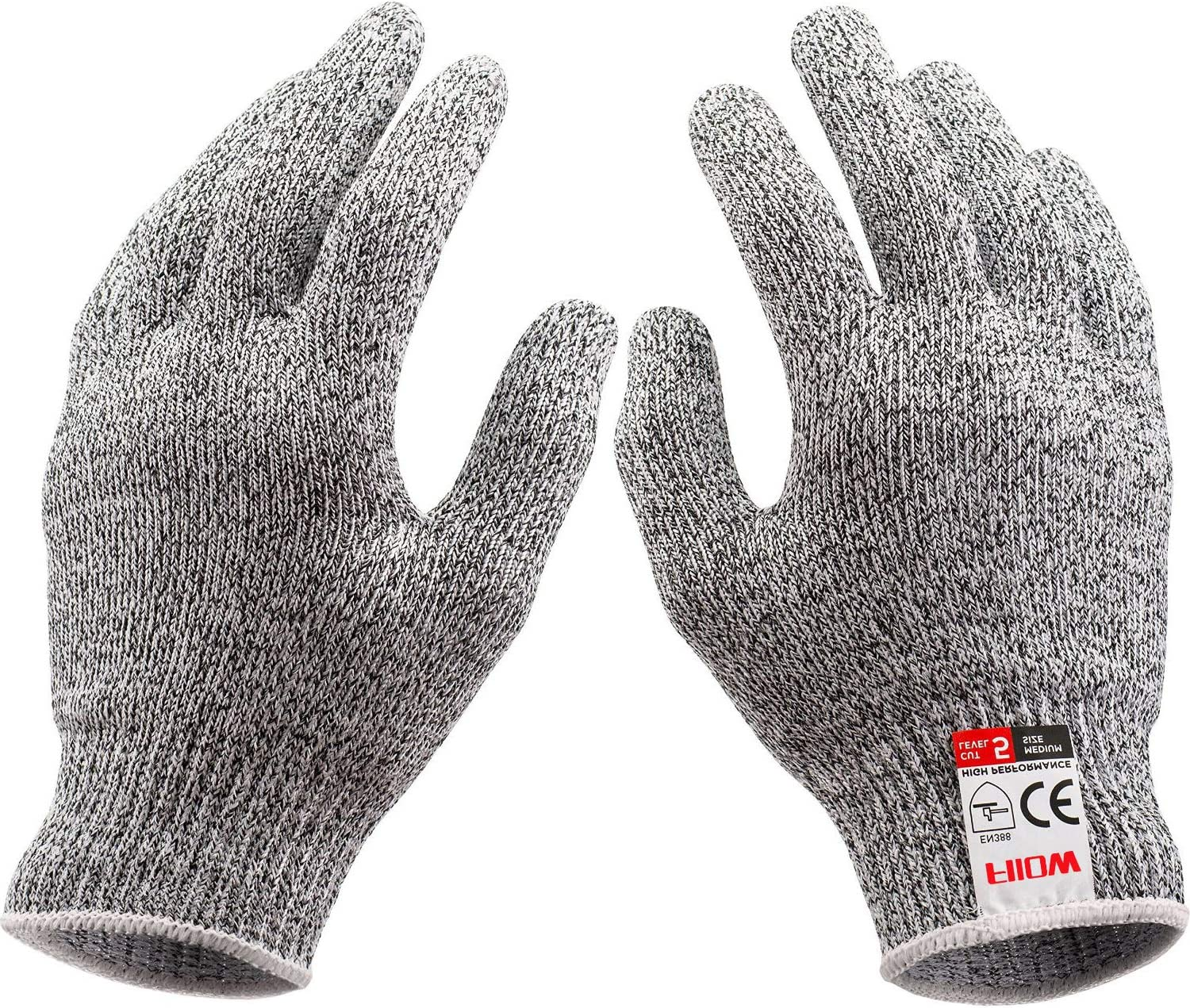 Cut Resistant Kitchen Gloves (1 Pair) for Men Women - Food Grade Level 5 Protection Safety Cutting Gloves - M