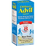 Advil Children's Fever Reducer/Pain Reliever Dye-Free, 100mg Ibuprofen (White Grape Flavor Oral Suspension, 4 fl. oz. Bottle)