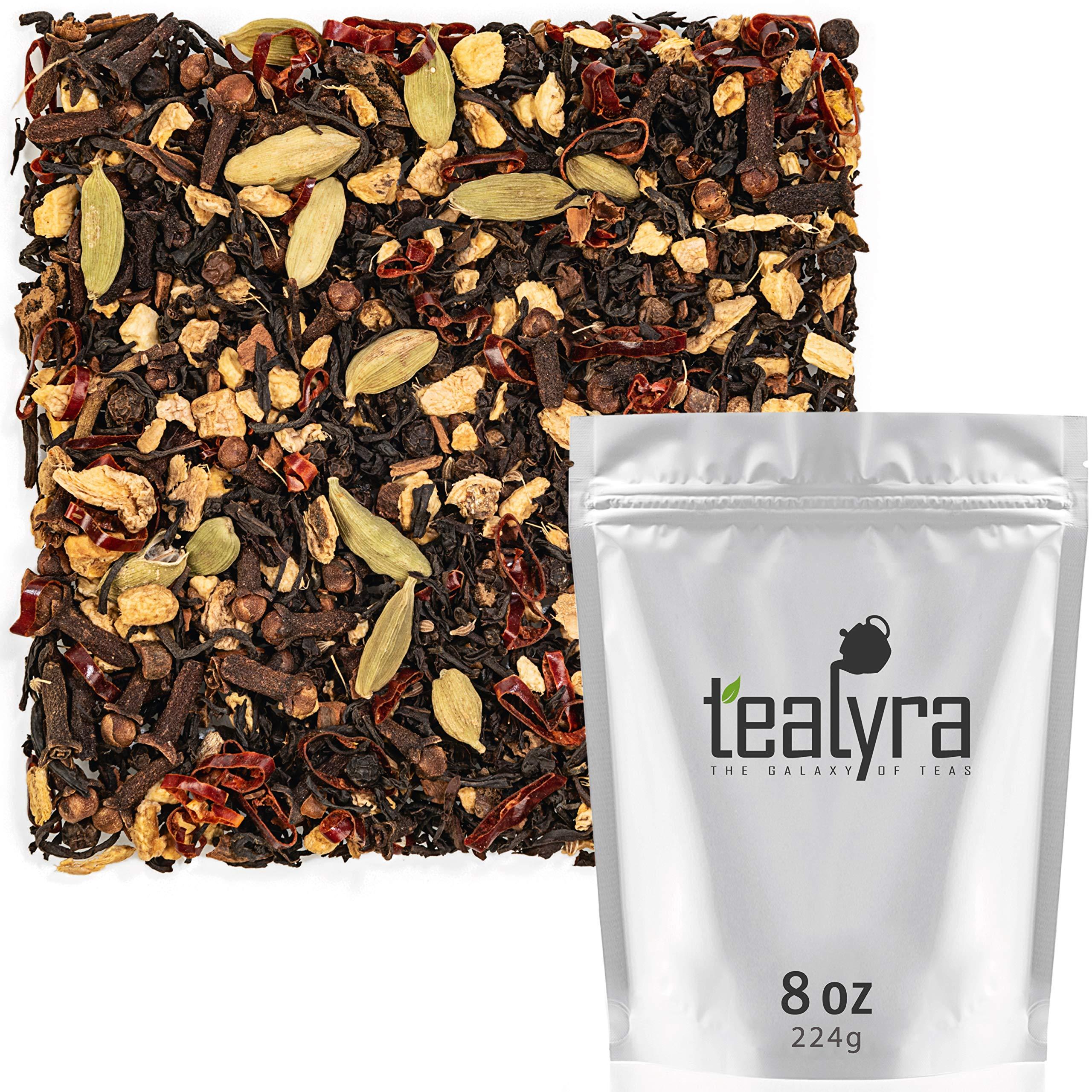 Tealyra - Spicy Chili Pepper Chai - Black Tea - Ginger - Cardamom - Cinnamon - Vanilla - Warm Spicy Loose Leaf Tea - 224g (8-ounce)