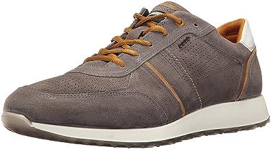 ECCO Men's Summer Sneak Fashion Sneaker, Warm Grey/Dried Tobacco, 40 EU/