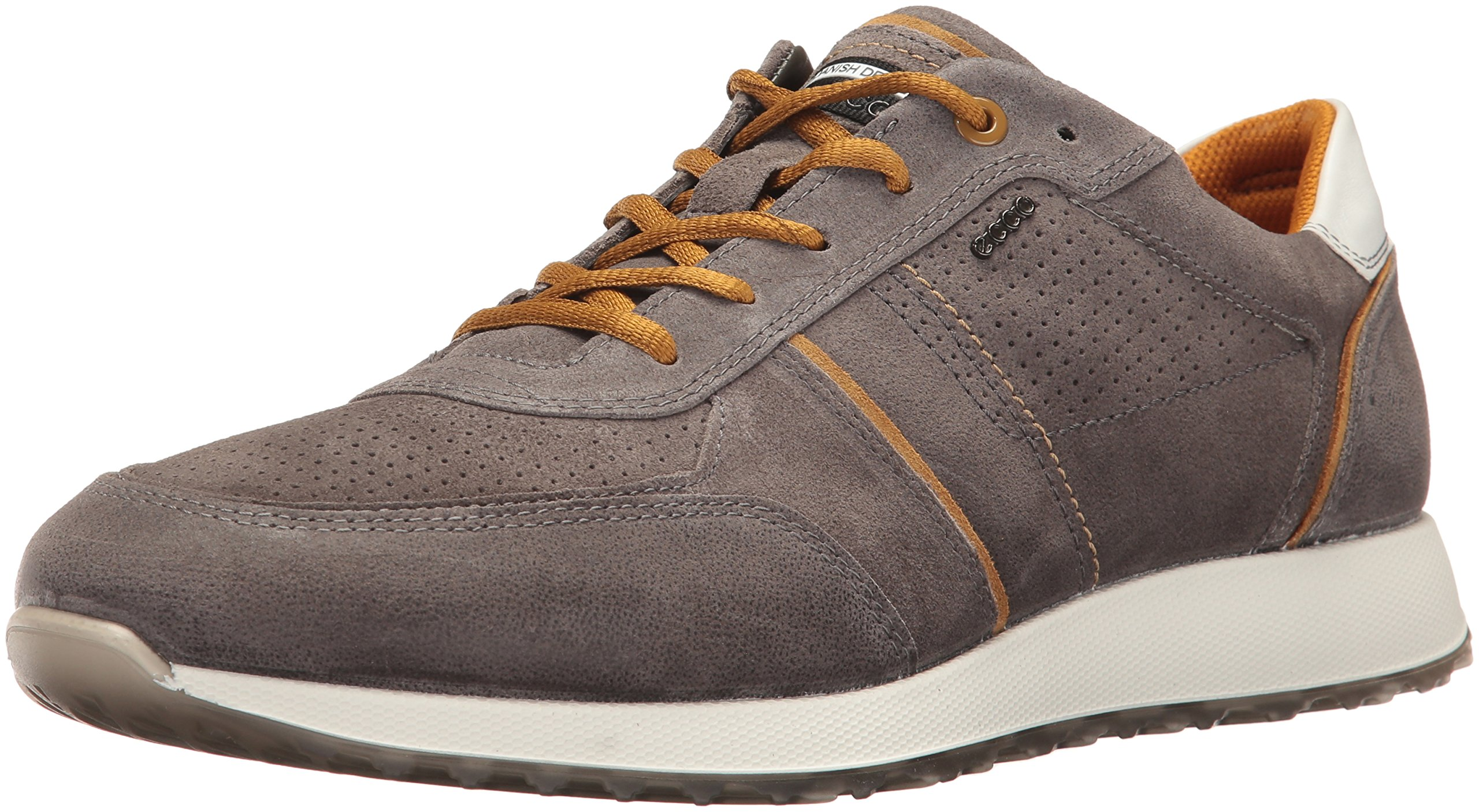 ECCO Men's Summer Sneak Fashion Sneaker, Warm Grey/Dried Tobacco, 42 EU/8-8.5 M US