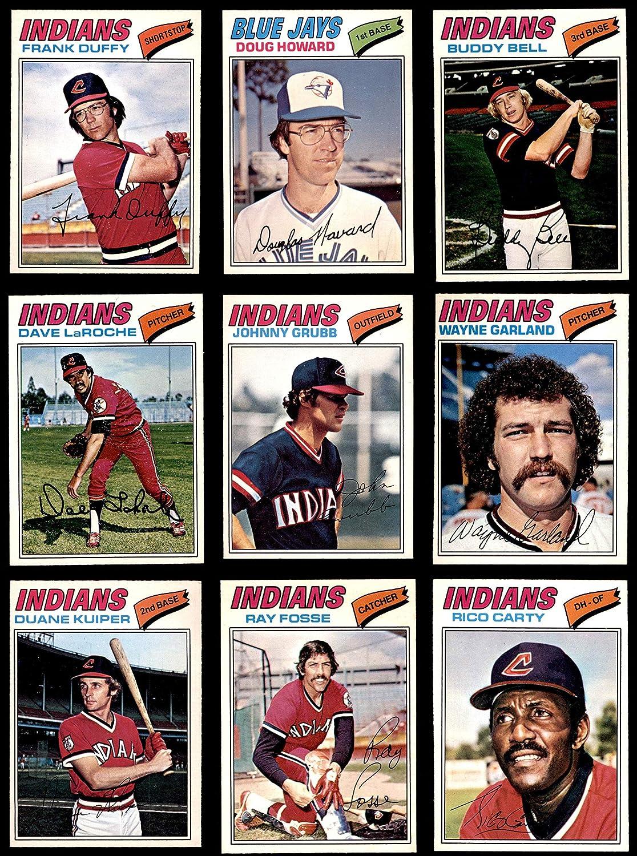 1977 O-Pee-Chee Cleveland Indians Team Set Cleveland Indians (Baseball Set) Dean's Cards 7 - NM Indians 91LiUEVaqsLSL1500_