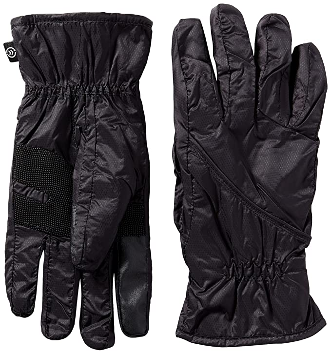 Isotoner Men's SleekHeat smarTouch Packable Gloves ,  Black,  L/XL