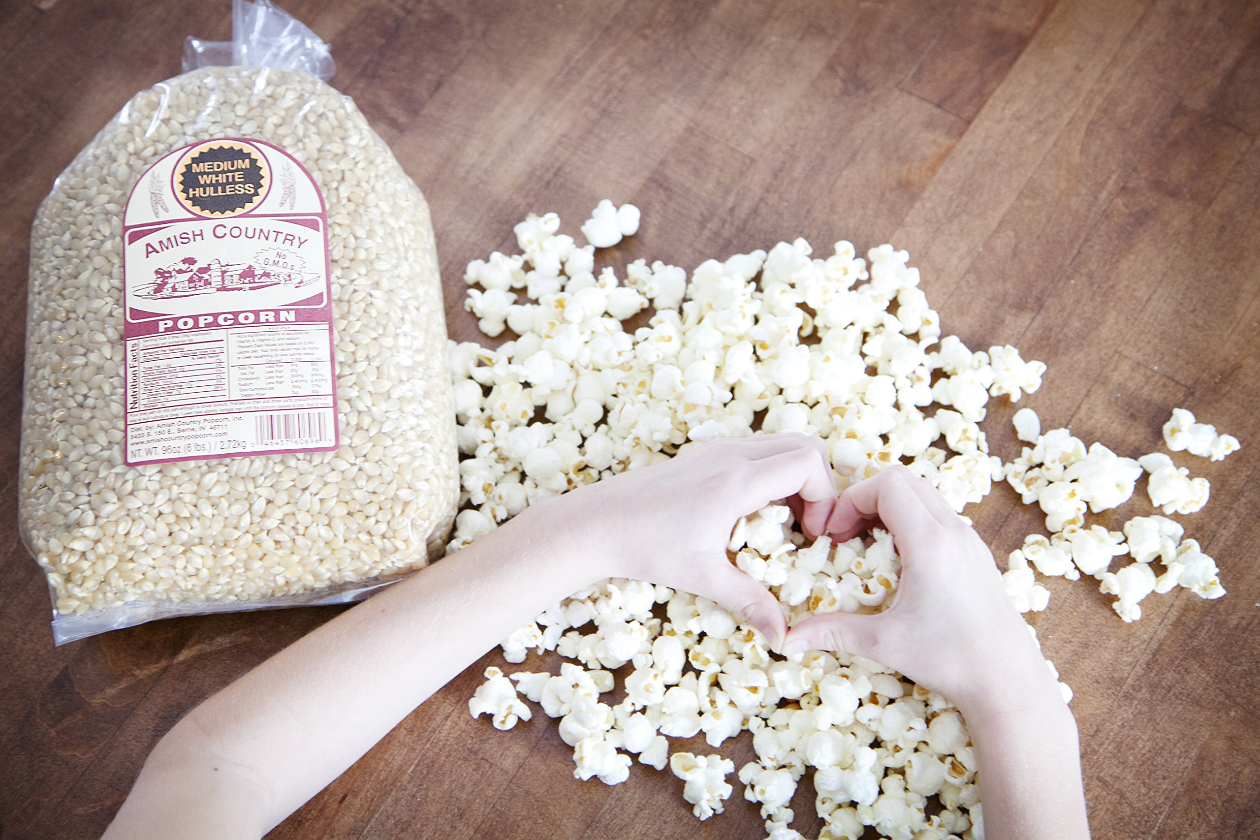 Amish Country Popcorn - Medium White (6 Pound Bag) Popcorn Kernels with Recipe Guide, Old Fashioned, Non GMO, Gluten Free, Microwaveable, Stovetop and Air Popper Friendly by Amish Country Popcorn (Image #3)