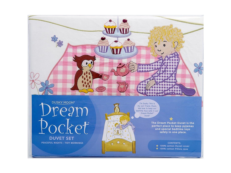 Dusky Moon Dream Pocket Duvet Set, Tea Party - Single Bed DM03003