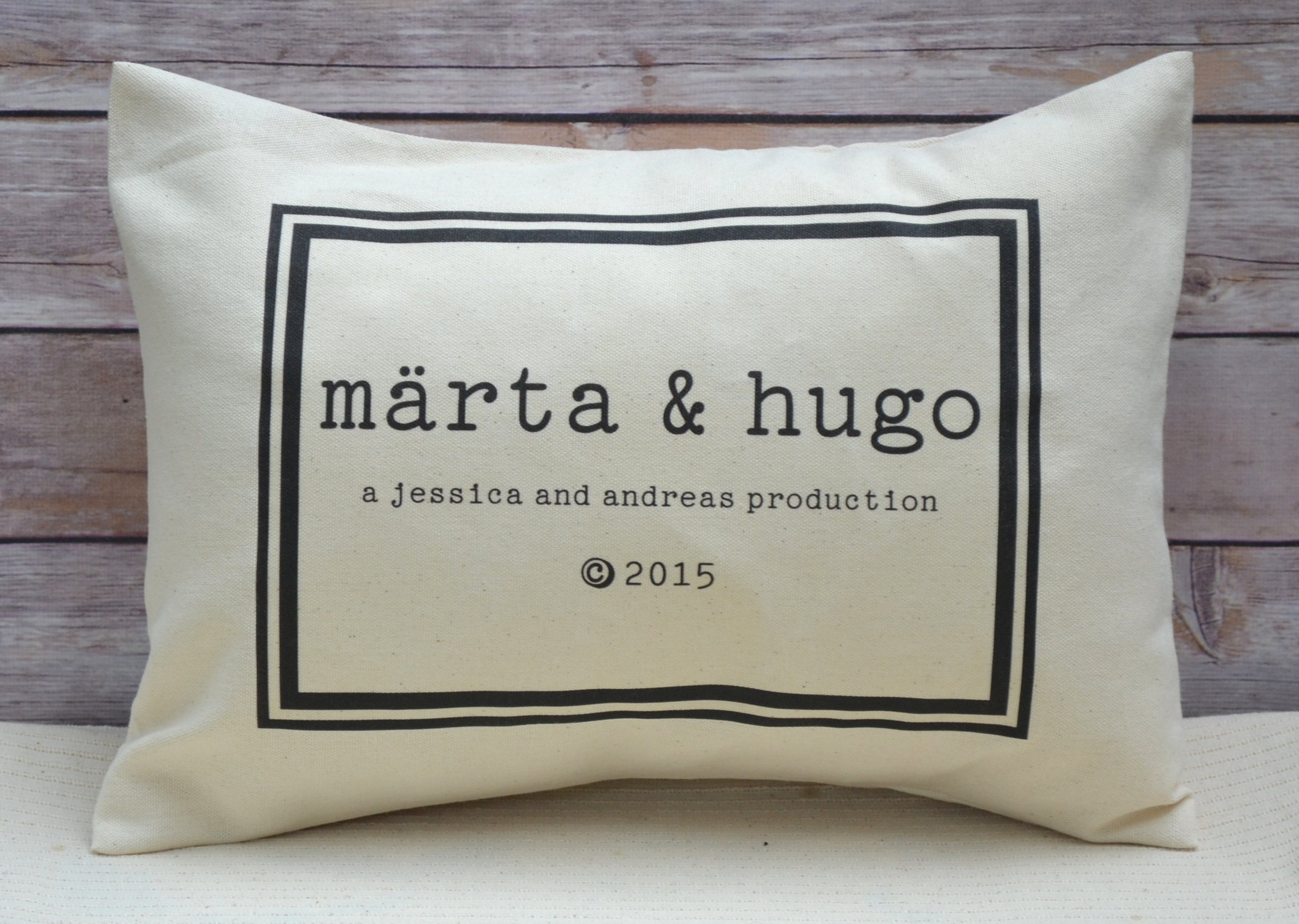 Personalized Twin Baby décor Pillow with Two names parents names and production year Unique baby gift for twins