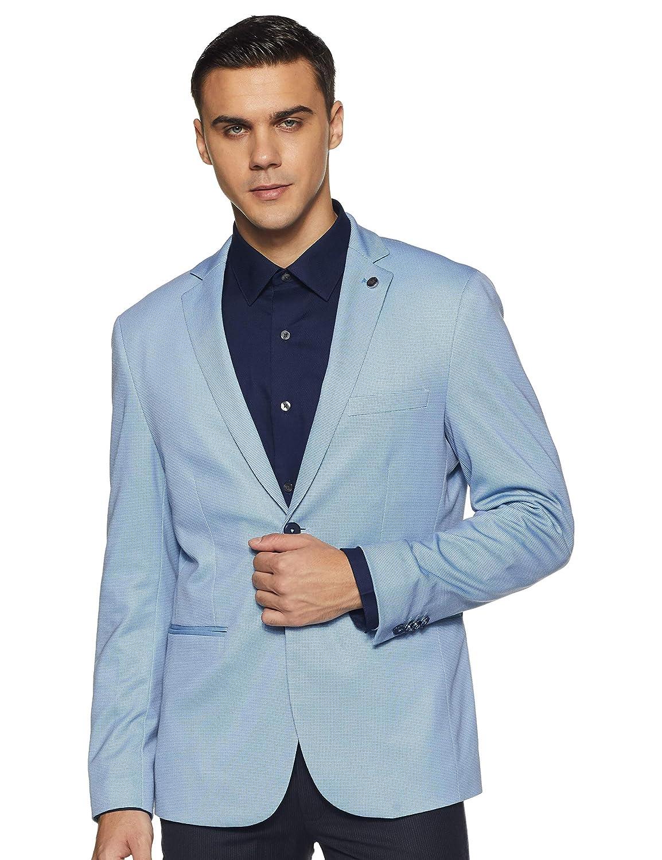 Best Blue Notch Lapel Regular fit Blazer For Men's